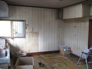施工前 キッチン(台所)高さと配置が気にいらなかった